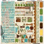 Bo Bunny - Safari Collection - 12 x 12 Cardstock Stickers - Combo