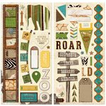 Bo Bunny - Safari Collection - Chipboard Stickers