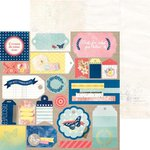 Bo Bunny - Sweet Life Collection - 12 x 12 Double Sided Paper - Flutter