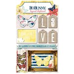 Bo Bunny - Sweet Life Collection - Layered Chipboard Stickers