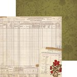 Bo Bunny - Heritage Collection - 12 x 12 Double Sided Paper - Census