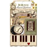 Bo Bunny - Heritage Collection - Layered Chipboard Stickers