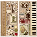 Bo Bunny - Heritage Collection - Chipboard Stickers