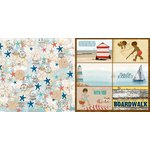 Bo Bunny - Boardwalk Collection - 12 x 12 Double Sided Paper - Beach Bliss