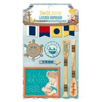 Bo Bunny - Boardwalk Collection - Layered Chipboard Stickers