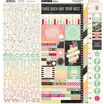 Bo Bunny - Youre Invited Collection - 12 x 12 Cardstock Stickers - Combo Sticker
