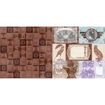 Bo Bunny - Penny Emporium Collection - 12 x 12 Double Sided Paper - Copper Tiles