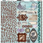 Bo Bunny - Penny Emporium Collection - 12 x 12 Cardstock Stickers - Combo