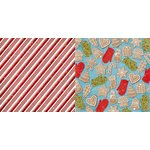 Bo Bunny - Dear Santa Collection - Christmas - 12 x 12 Double Sided Paper - Candy Cane