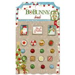 Bo Bunny - Dear Santa Collection - Christmas - Brads