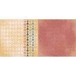 Bo Bunny - Provence Collection - 12 x 12 Double Sided Paper - Harlequin