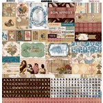 Bo Bunny - Provence Collection - 12 x 12 Cardstock Stickers - Combo