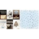 Bo Bunny - Sleigh Ride Collection - Christmas - 12 x 12 Double Sided Paper - Wonderful