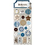 Bo Bunny - Sleigh Ride Collection - Christmas - Buttons
