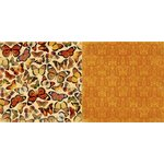 Bo Bunny - Enchanted Harvest Collection - 12 x 12 Double Sided Paper - Butterflies
