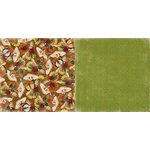Bo Bunny - Enchanted Harvest Collection - 12 x 12 Double Sided Paper - Mushrooms