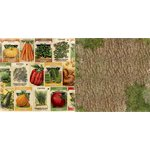 Bo Bunny - Enchanted Harvest Collection - 12 x 12 Double Sided Paper - Seed Packets