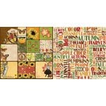 Bo Bunny - Enchanted Harvest Collection - 12 x 12 Double Sided Paper - Traditions