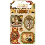 Bo Bunny - Enchanted Harvest Collection - Layered Chipboard Stickers