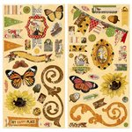 Bo Bunny - Enchanted Harvest Collection - Chipboard Stickers