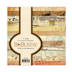 Bo Bunny Press - Et Cetera Collection - 6 x 6 Paper Pad