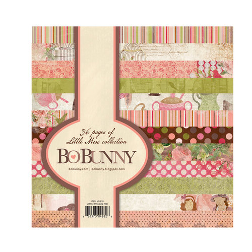 Bo Bunny - Little Miss Collection - 6 x 6 Paper Pad