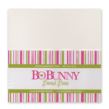 Bo Bunny - 6x6 Bare Naked Board Book - with 12 Pages
