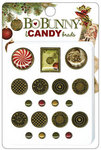 Bo Bunny Press - Noel Collection - Christmas - I Candy Brads - Noel