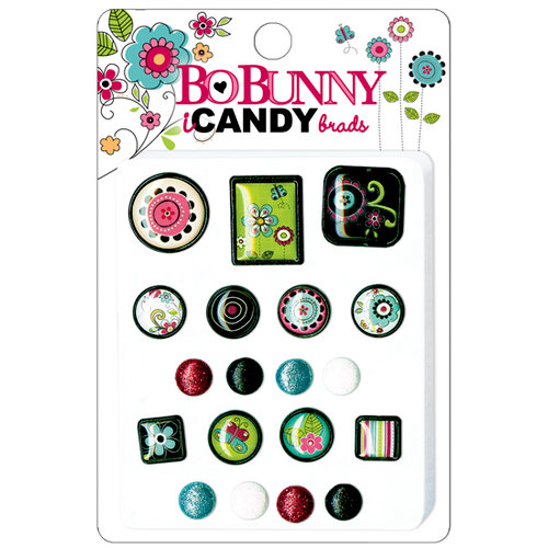 Bo Bunny Press - Petal Pushers Collection - I Candy Brads - Petal Pushers, CLEARANCE