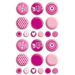 Bo Bunny Press - Double Dot - Brads - Pink Punch, CLEARANCE