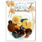 Bo Bunny Press - Paradise Collection - Buttons and Bling, CLEARANCE