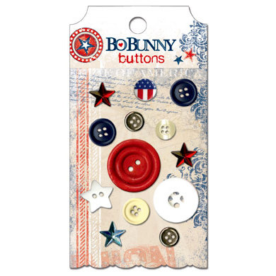 Bo Bunny - Liberty Collection - Buttons