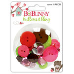 Bo Bunny Press - Love Bandit Collection - Buttons and Bling, CLEARANCE