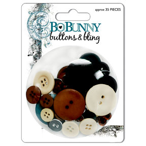 Bo Bunny Press - Mama-razzi Collection - Buttons and Bling