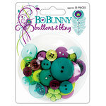 Bo Bunny Press - Peacock Lane Collection - Buttons and Bling