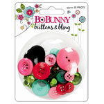 Bo Bunny Press - Petal Pushers Collection - Buttons and Bling, CLEARANCE