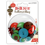 Bo Bunny Press - Tis The Season Collection - Christmas - Buttons and Bling - Tis The Season, CLEARANCE