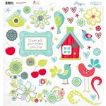 Bo Bunny - Alora Collection - 12 x 12 Chipboard Stickers