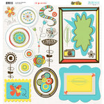 Bo Bunny Press - Ad Lib Collection - 12 x 12 Chipboard Stickers - Ad Lib