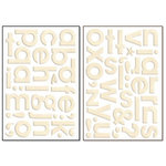 Bo Bunny Press - Chunky Chips Collection - Chipboard Alphabet Stickers - Chiffon, CLEARANCE