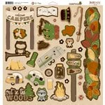Bo Bunny - Camp-A-Lot Collection - 12 x 12 Chipboard Stickers