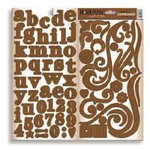 Bo Bunny Press - Double Dot - Chipboard - Chocolate