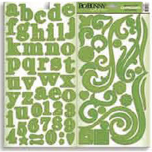 Bo Bunny Press - Double Dot - Chipboard - Clover