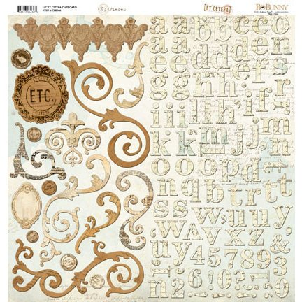 Bo Bunny Press - Et Cetera Collection - 12 x 12 Chipboard Stickers