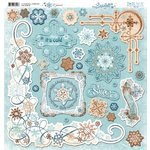 Bo Bunny Press - Snowfall Collection - 12 x 12 Chipboard Stickers