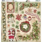Bo Bunny Press - Father Christmas Collection - 12 x 12 Chipboard Stickers