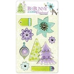 Bo Bunny Press - Winter Joy Collection - Christmas - I Candy Chipboard - Layered Stickers with Glitter Accents