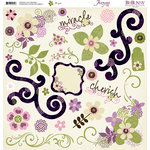 Bo Bunny Press - Jazmyne Collection - 12 x 12 Chipboard Stickers - Jazmyne