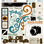 Bo Bunny Press - Mama-razzi Collection - 12 x 12 Chipboard Stickers - Mama-razzi, BRAND NEW