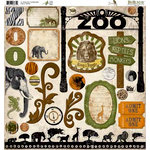 Bo Bunny - Zoology Collection - 12 x 12 Chipboard Stickers - Zoology